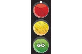 Ashley Productions ASH13000 Traffic Light Card Laminated Stop/Go 8.9cm x 23cm