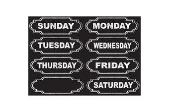Ashley Productions Chalkboard Days of the Week Die-Cut Magnets