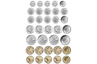Ashley Productions ASH77818 Magnetic Die-Cut Australian Coins, Set of 34