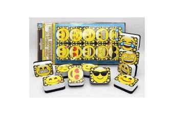 (Emoji Stars) - Ashley Productions ASH78101 Magnetic Mini Whiteboard Erasers, 5.1cm x 3.8cm x .75, Emoji Stars (Pack of 10)