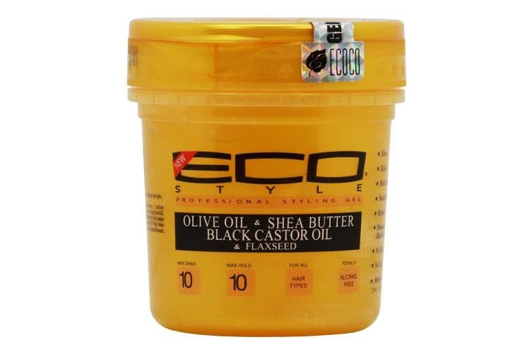 Eco Style Gold - Olive Oil, Shea Butter and Black Castor & Flaxseed Oil Gel 240ml
