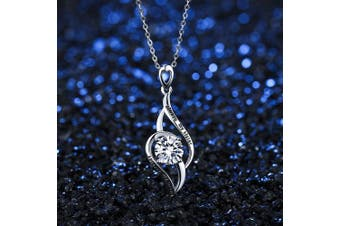 """(Style-1) - Bonlavie 925 Sterling Silver""""Always My Sister Forever My Friend"""" Love Infinity Cubic Zirconia Pendant Necklace"""