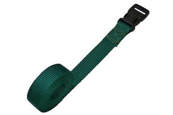 (forest green, 1 metre) - Benristraps 25mm Webbing Strap with Quick-Release Buckle