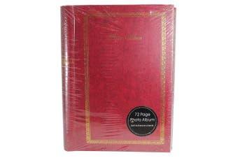 (72 Page) - Traditional Self Adhesive Hardback Photo Album - Red (72 Page)