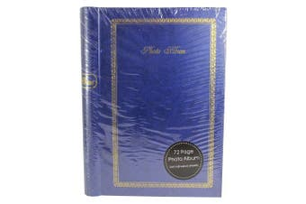 (72 Page) - Traditional Self Adhesive Hardback Photo Album - Blue (72 Page)