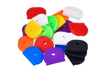 24 Pieces Key Caps Set Flexible Key Covers for Easy Identifying Door Keys, 8 Colours