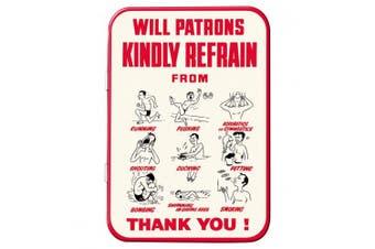 "Red Hot Lemon ""Will Patrons"" Keepsake Tin, Red/White, 111 x 80 x 21 mm"