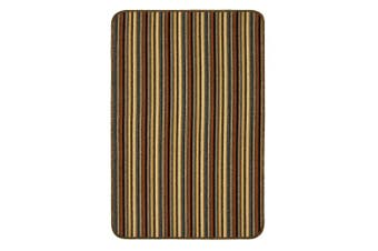 (80 x 50, Brown) - Dandy by William Armes, Ios Stripe Indoor Washable Rug, Brown, 80 x 50
