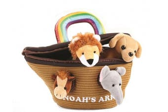 Noah's Ark Plush Sound Animals Toys With Carrier by Animal House | Baby Gift | Toddler Gift