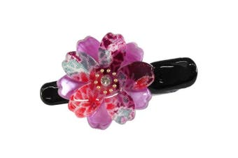 (Purple) - Sakura Design Japanese Mini Hair Clip (Purple)