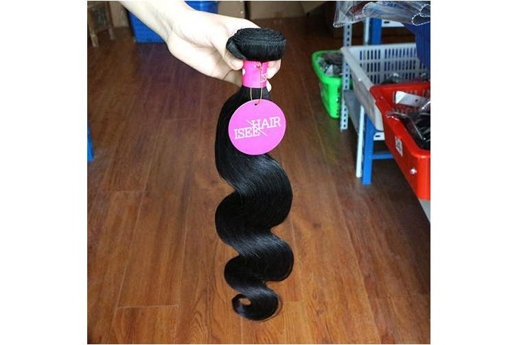 "(50cm &60cm &60cm ) - ISEE Hair 8A Unprocessed Brazilian Virgin Body Wave Human Hair 3 Bundles 100% Unprocessed Human Hair Extensions Natural Black (20""22""24"")"
