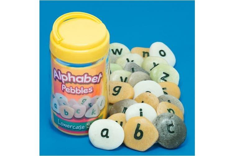 Yellow Door YD-10 Alphabet Pebbles - Lowercase, kindergarten Grade to 3 Grade, 13cm H, 7.6cm L, 7.6cm W