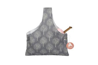 (Small) - Knitting Tote Bag Yarn Storage Organiser for Small Projects (Grey Tree)