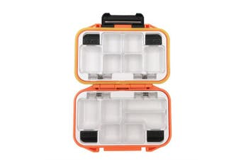(Orange-Small) - Milepetus Waterproof Fishing Lure Box Spoon Hooks Baits Storage Tackle Box Containers for Casting Fishing Fly Fishing,Large/Medium/Small Lure Case Available