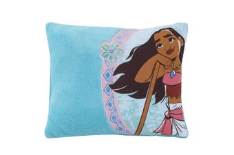 (Moana) - Disney Moana Decorative Toddler Pillow, Turquoise, Light Blue, White, Coral