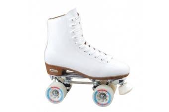 (7) - Chicago Women's Leather Lined Rink Roller Skate, White
