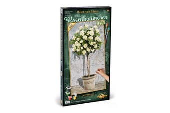 Schipper 609220777 Painting by Number - Rose Tree White