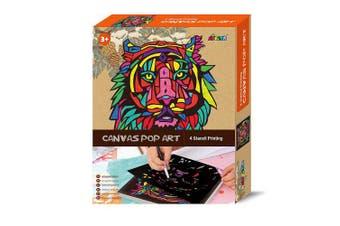 Avenir Canvas Pop Art Tiger