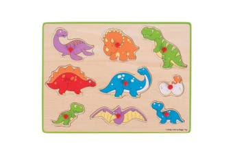 Bigjigs Toys Chunky Lift Out Puzzle - Dinosaurs