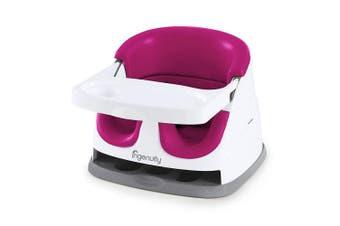 (Pink Flambe) - Ingenuity Baby Base 2-in-1 Seat - Pink Flambé - Booster Feeding Seat
