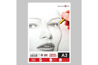 A3 160gsm Sketch Pad Light Ivory Drawing Artist Paper GUMMED Book - 30 Sheets - 60 Pages