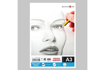 A3 160gsm Sketch Pad White Drawing Artist Paper GUMMED Book - 30 Sheets - 60 Pages