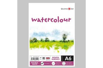 A6 Watercolour Rough Surface Pad Drawing Artist Paper GUMMED Book - 220gsm
