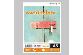 A5 Watercolour ESPARTO Surface Pad Drawing Artist Paper GUMMED Book - 300gsm