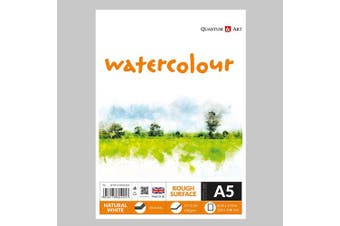 A5 Watercolour Rough Surface Pad Drawing Artist Paper GUMMED Book - 180gsm