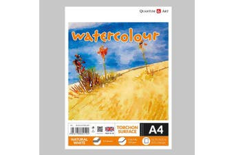 A4 Watercolour TORCHON Surface Pad Drawing Artist Paper GUMMED Book - 250gsm