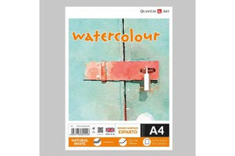 A4 Watercolour ESPARTO Surface Pad Drawing Artist Paper GUMMED Book - 300gsm