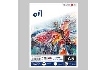 A5 Oil Linen Surface Pad Drawing Artist Paper GUMMED Book - 250gsm