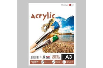 A3 Acrylic Rough Surface Pad Drawing Artist Paper GUMMED Book - 200gsm