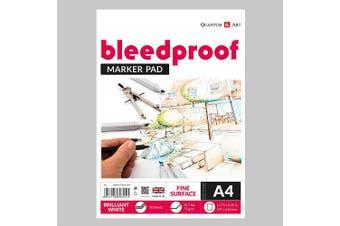 A4 Drawing Bleedproof Fine Surface Pad Artist Paper GUMMED Book - 75gsm