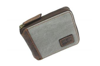 (Grey) - Mala CACTUS Collection Canvas Zip Around Wallet With RFID Protection 189_81 Grey