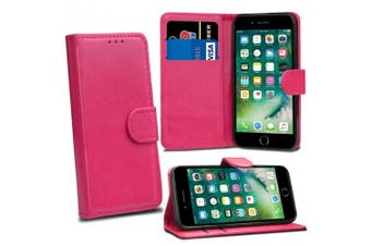 (Pink) - iPhone 7 / 8 12cm Case, [Card Holder] Magnetic Luxury PU Wallet Cover - Id Holder Flip Leather Case For iPhone 7 / 8 12cm (Pink)