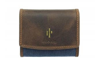 (Denim) - Mala Leather CACTUS Collection Canvas Purse With RFID Protection 3425_81 Denim