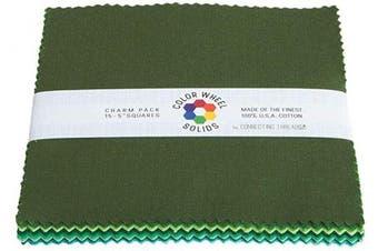 (13cm  Charm Squares, Forest Park) - Connecting Threads Colour Wheel Premium Precut Fabric Bundle Charm Squares (Forest Park)