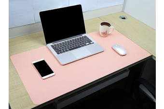 (Pink, 80 x 40 cm) - Multifunctional Office Desk Pad, YSAGi Ultra Thin Waterproof PU Leather Mouse Pad, Dual Use Desk Writing Mat for Office/Home (Pink, 80cm x 40cm )