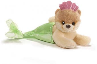 (Mermaid, Single) - GUND Itty Bitty Boo Mermaid Dog Stuffed Animal Plush, 13cm