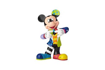 Enesco Disney by Britto Mickey Mouse with Bling 90th Celebration Stone Resin Figurine, 27cm , Multicolor