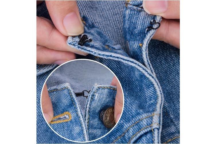 (Black) - Bememo 50 Set Sewing Hooks and Eyes Closure for Bra and Clothing, 3 Sizes (Black)