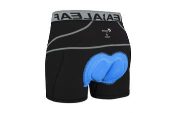(Large, Grey) - Baleaf Men's 3D Padded Bike Bicycle MTB Cycling Underwear Shorts