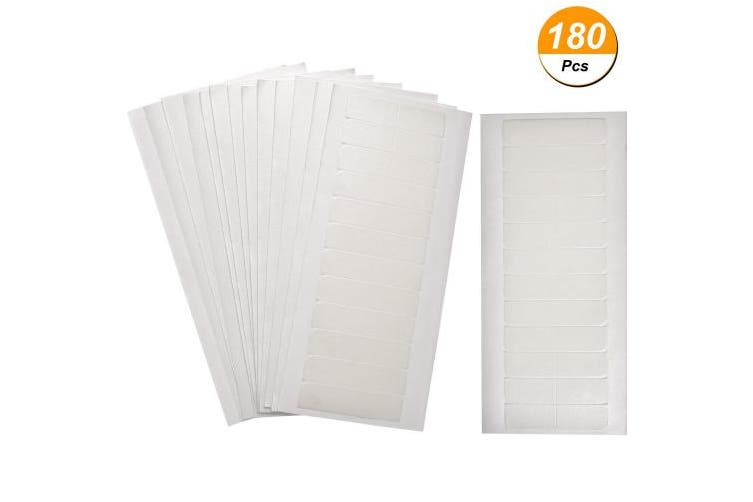 (White) - 180 Pieces Hair Extension Tape Tabs Double Sided Extension Tapes for Replacement, 4 x 0.8 cm (White)