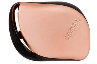 (Black/Rose Gold) - Tangle Teezer The Compact Styler, On-the-go Detangling Hairbrush for All Hair Types (Black/Rose Gold)