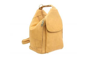 (Sand) - Visconti Leather Backpack Style 18357 Sand
