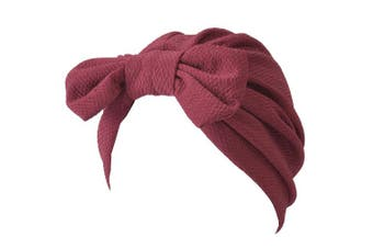 (A Enge) - CHARM Casualbox | Bow Fashion Turban Hat Twist Ribbon Kawaii Boho Headwrap Arabian Festival Chemo Hat