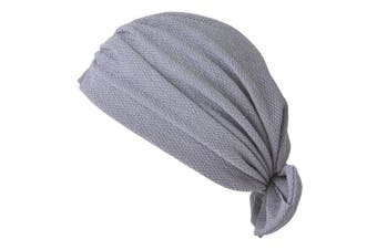 (B Grey) - CHARM Casualbox | Bow Fashion Turban Hat Twist Ribbon Kawaii Boho Headwrap Arabian Festival Chemo Hat