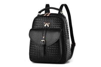 (Black V2) - Women's Backpack Handbags Shoulder Bags School Backpack Daypack Laptop Bag PU Leather