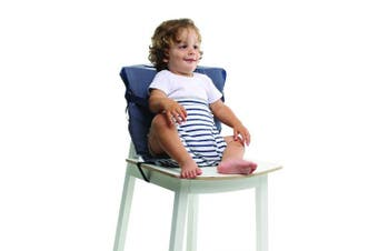 (Denim Edition) - Baby-to-Love Pocket Chair, Toddler Portable High-Chair Seat Cover for Travel (Denim Edition)